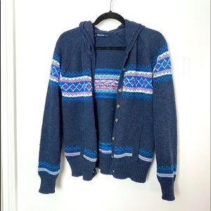 Bluenotes Button Up Colourful Knit Sweater